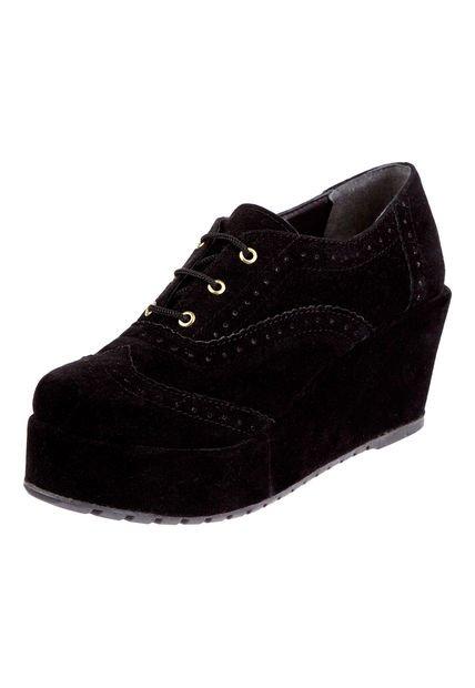 Zapato Negro Las Medusas con Plataforma