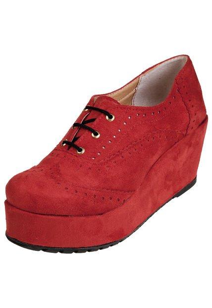 Zapato Rojo Las Medusas con Plataforma