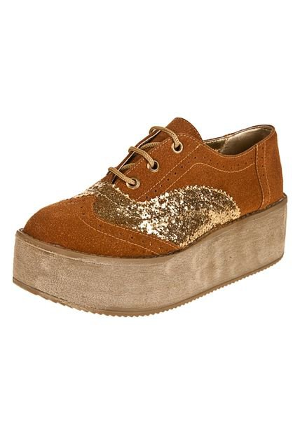 Zapato Suela Las Medusas Combinado Oro