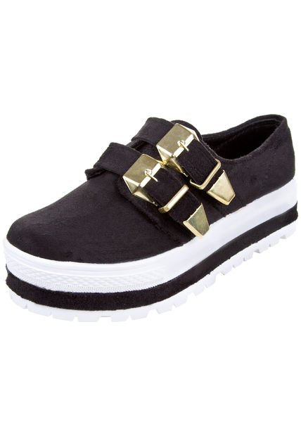 Zapato Negro Miss Rock Terry