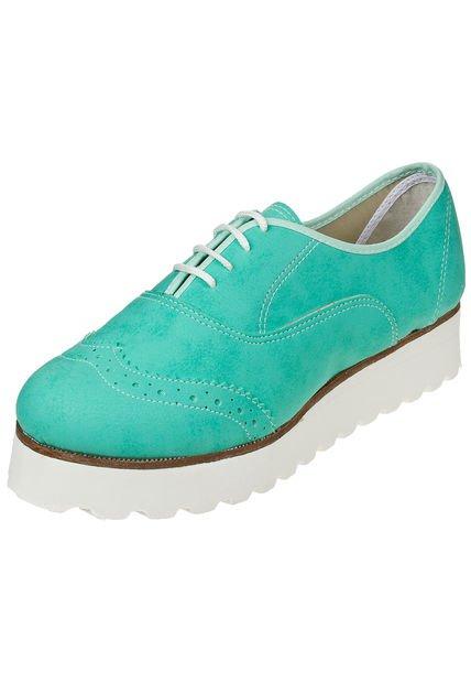 Zapato Verde Miss Rock Colilarga