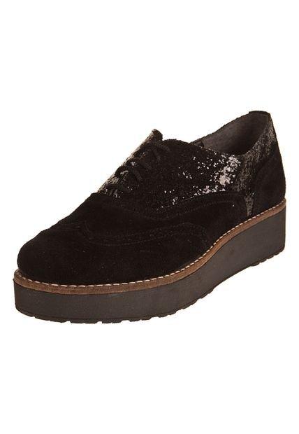 Zapato Negro Motor Oil Combinado