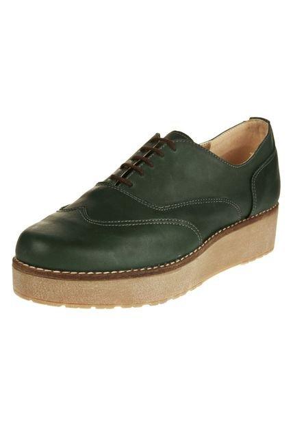 Zapato Verde Motor Oil Abotinado