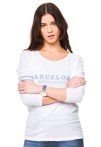 Remera Blanca Muaa Barcelona