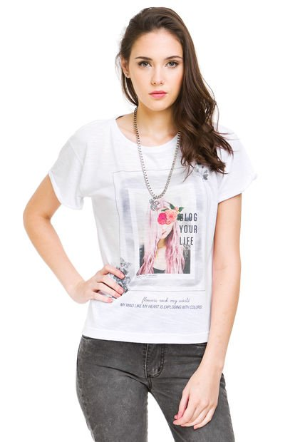 Remera Blanca Muaa Collection