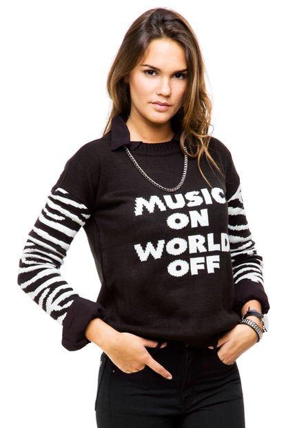Sweater Negro Muaa Twin