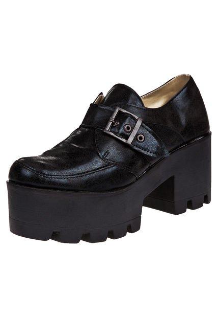 Zapato Negro Nadia Florida