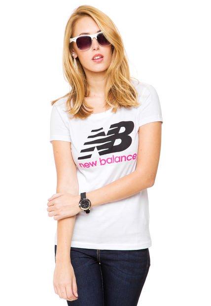 Remera Blanca New Balance New Logo