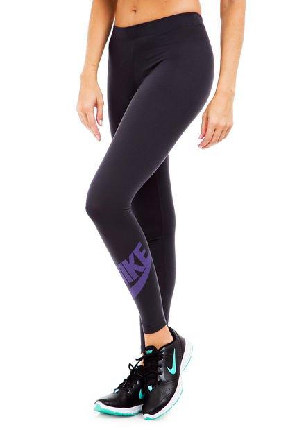 Calza Gris Nike Leg a See Logo