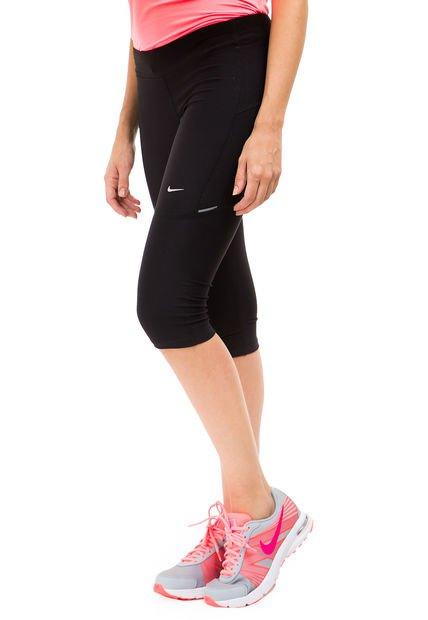 Calza Negra Nike Em Filament Capri