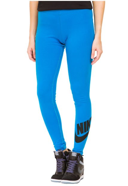 Calza Turquesa Nike Leg a See Logo