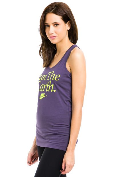 Musculosa Violeta Nike Run The Earth