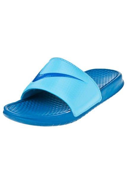Ojota Azul Nike Benassi Swoosh