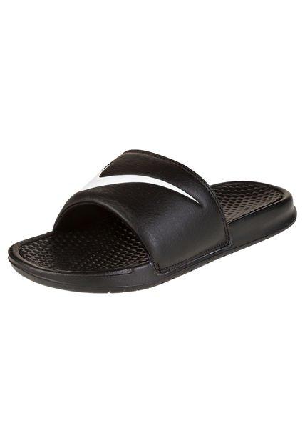 Ojota Negra Nike Benassi Swoosh