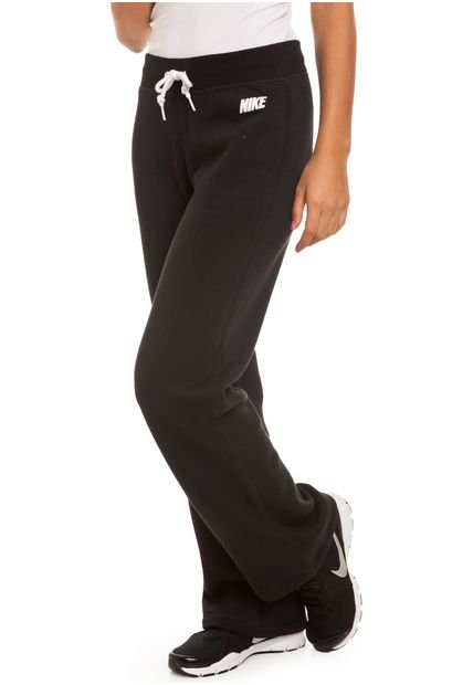 Pantalon Negro Nike Club Fleece OH Solid