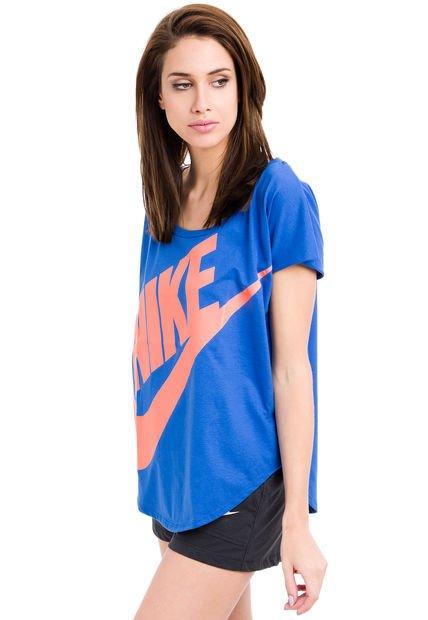 Remera Azul Nike Signal
