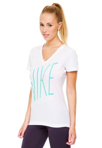 Remera Blanca Nike Mid V JDI