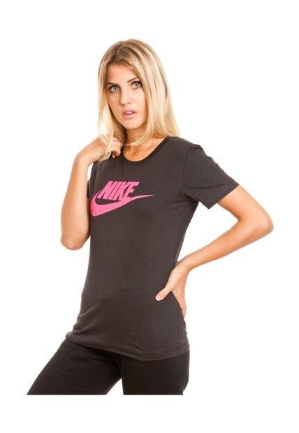 Remera Negra Nike EM Icon SS Tee