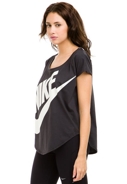 Remera Negra Nike EM Signal
