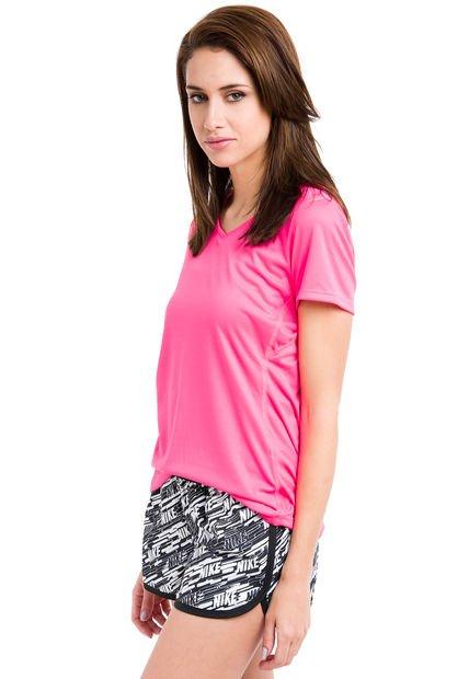 Remera Rosa Fluo Nike Natural SS