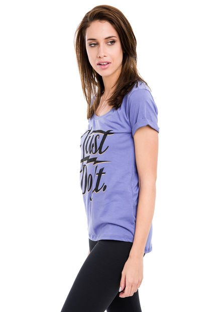 Remera Violeta Nike Scoop JDI Bolt