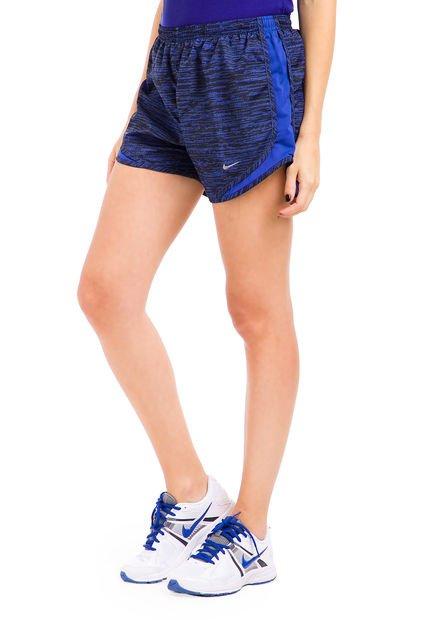 Short Azul Nike Printed Tempo