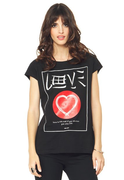 Remera Negra Ona Saez Love Is Life