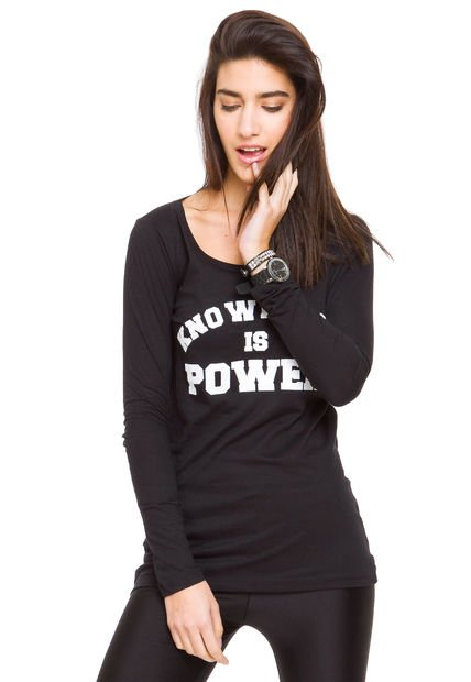 Remera Negra Ona Saez Power