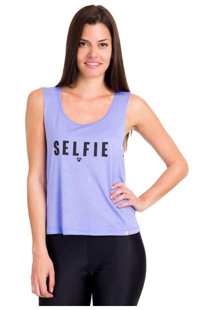 Musculosa Lila Peuque Selfie