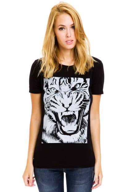 Remera Negra Peuque Tiger