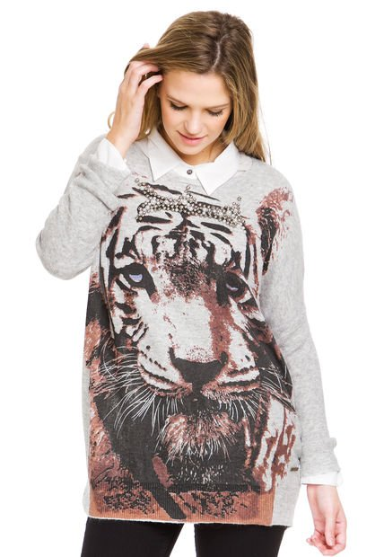 Sweater Gris Peuque Tiger
