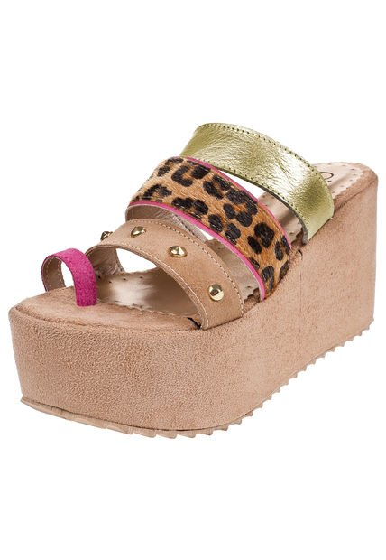 Sandalia Beige Pink Luxemburgo