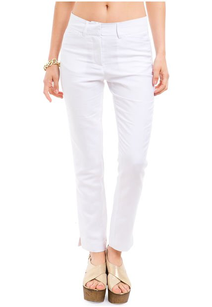 Pantalon Blanco Portsaid Lino Colors