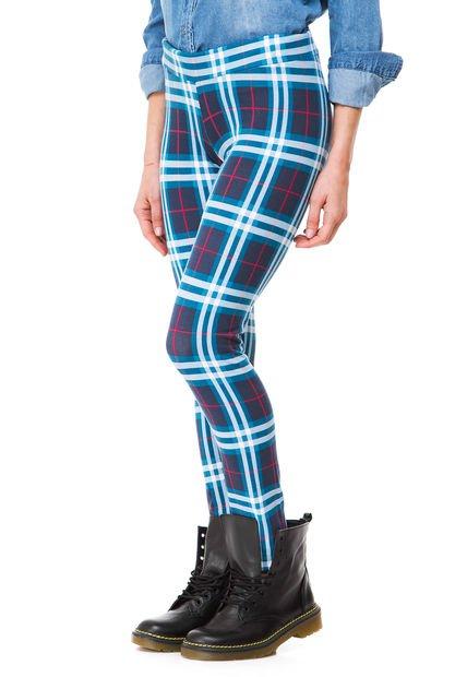 Calza Azul Prussia Heze Escocesa
