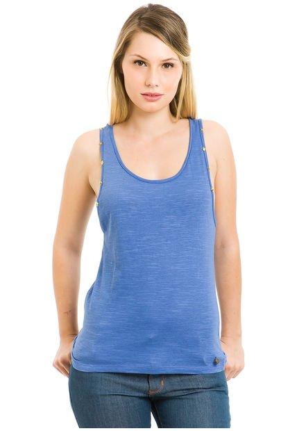 Musculosa Azul Prussia Bluma