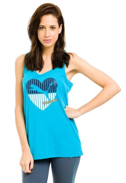 Musculosa Celeste Puma Heart