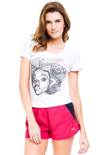 Remera Blanca Puma Fun Afro Girl