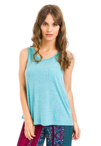 Musculosa Celeste React Cotton