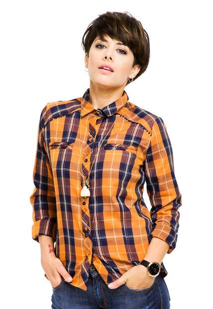 Camisa Marron Rie Cuadrille