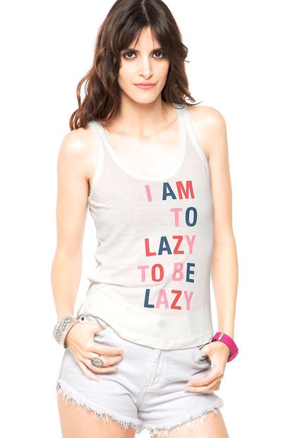 Musculosa Blanca Rie Lazy