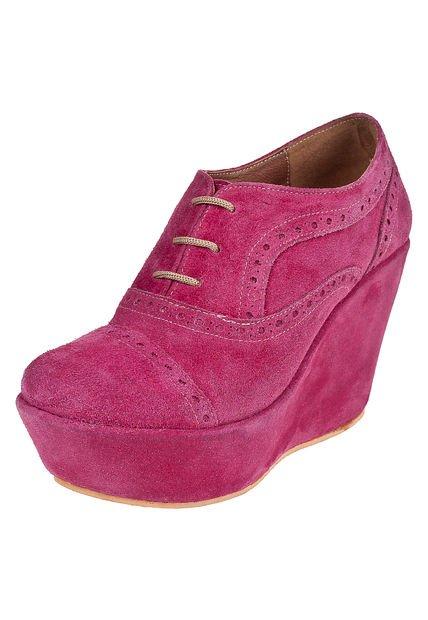 Zapato Fucsia Salvame Maria Acordonado