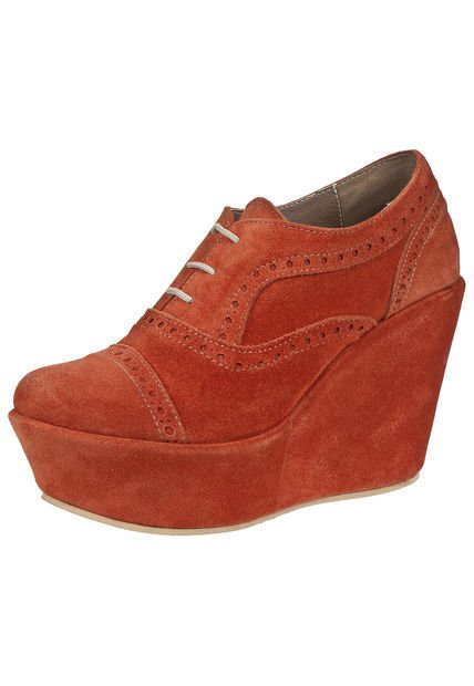 Zapato Naranja Salvame Maria Acordonado