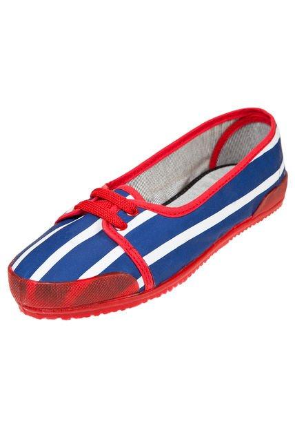 Zapatilla Azul Seco Calu