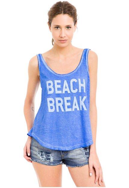 Musculosa Azul System Beach Break
