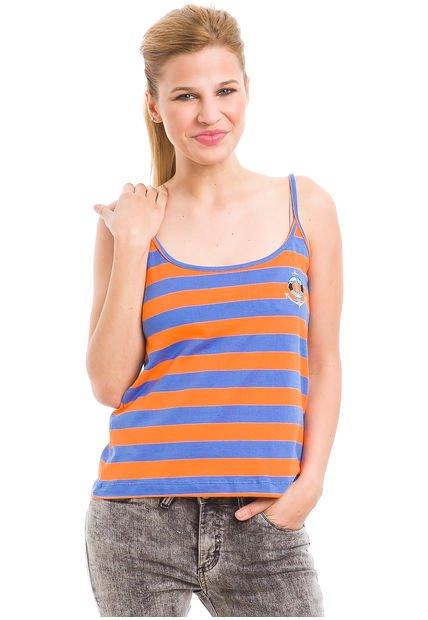 Musculosa Naranja System Bordado