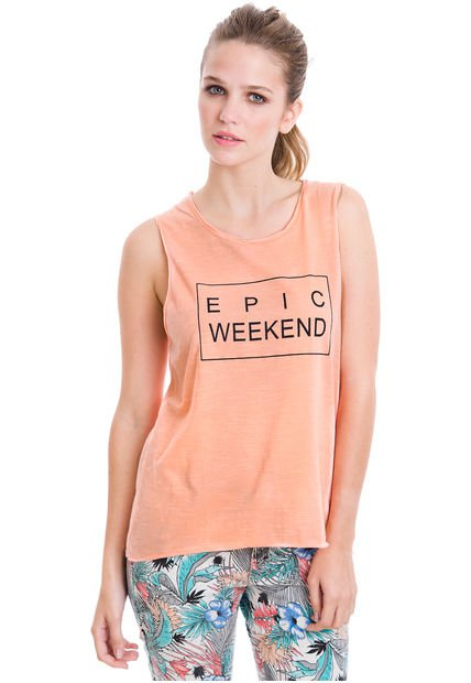 Musculosa Rosa System Epic Weekend