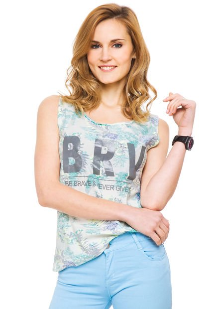 Musculosa Verde System Print Surf