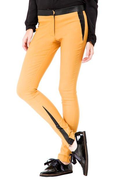 Pantalon Mostaza System Streech con Cierres