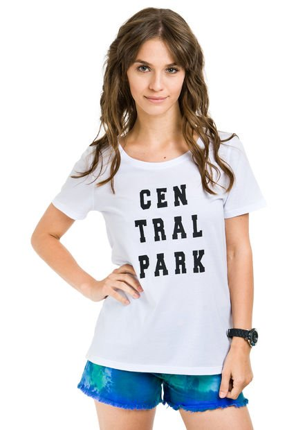 Remera Blanca System Central Park