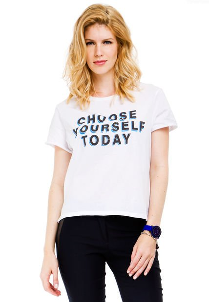 Remera Blanca System Choose Yourself